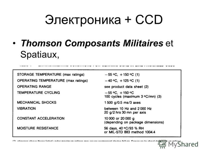 Электроника + CCD Thomson Composants Militaires et Spatiaux,