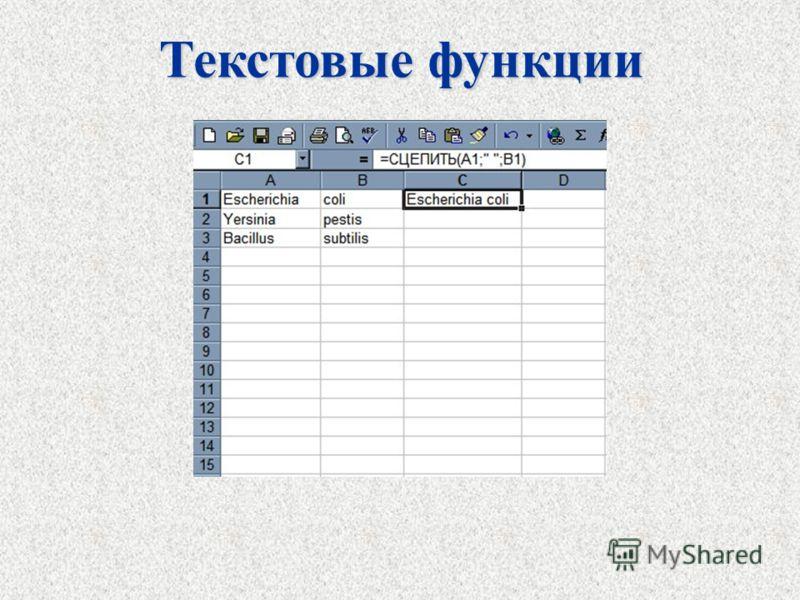 Текстовые функции