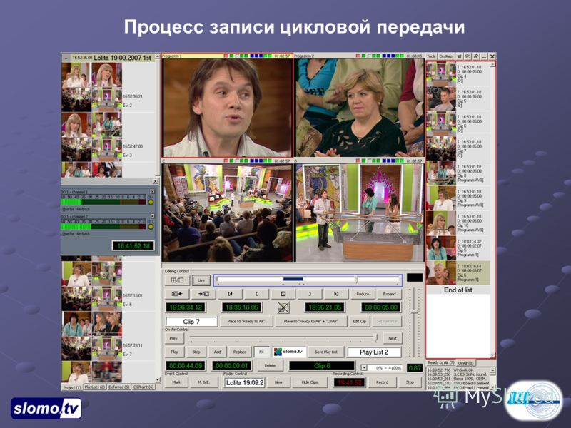 Процесс записи цикловой передачи
