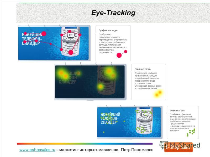 www.eshopsales.ruwww.eshopsales.ru – маркетинг интернет-магазинов. Петр Пономарев Eye-Tracking