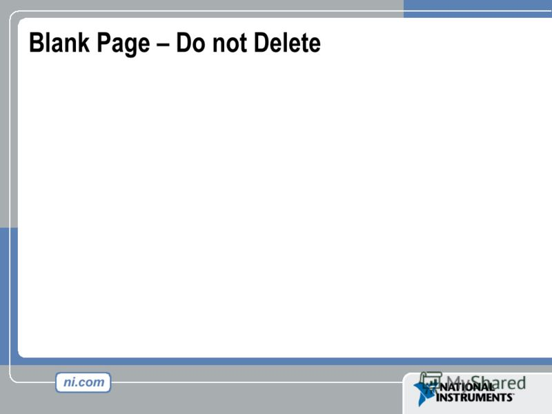 Blank Page – Do not Delete