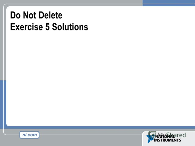 Do Not Delete Exercise 5 Solutions