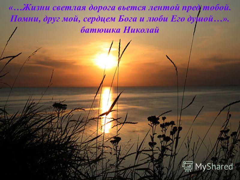 «…Жизни светлая дорога вьется лентой пред тобой. Помни, друг мой, сердцем Бога и люби Его душой…». батюшка Николай