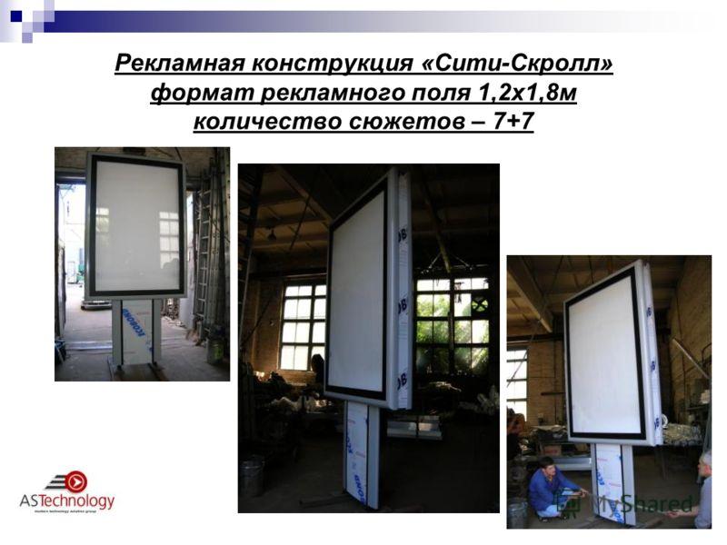 Рекламная конструкция «Сити-Скролл» формат рекламного поля 1,2х1,8м количество сюжетов – 7+7