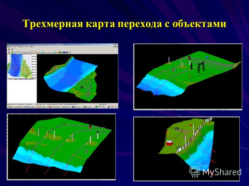 Трехмерная карта перехода c объектами