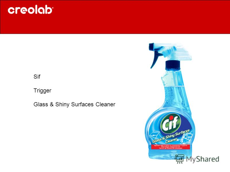 Sif Trigger Glass & Shiny Surfaces Cleaner
