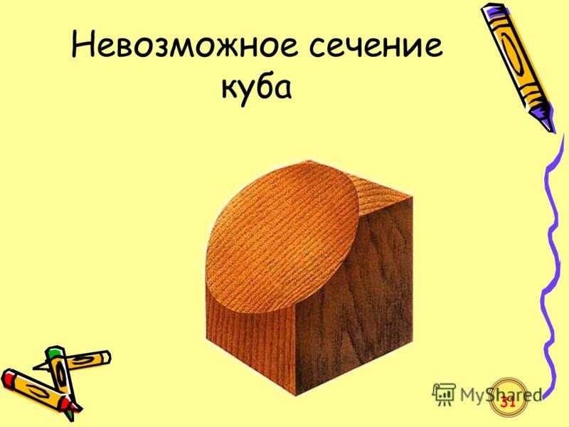 Невозможное сечение куба 31