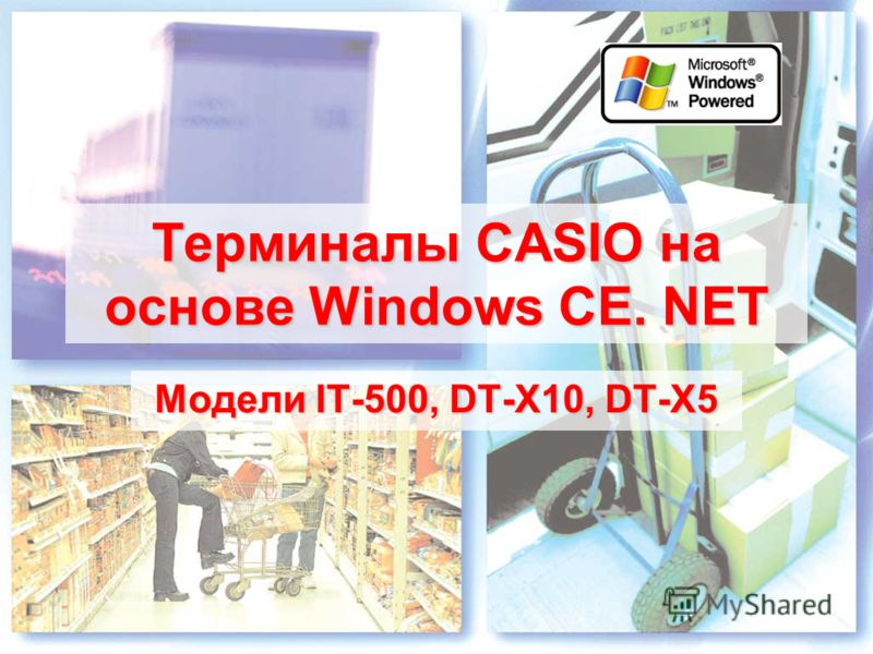 Терминалы CASIO на основе Windows CE. NET Модели IT-500, DT-X10, DT-X5