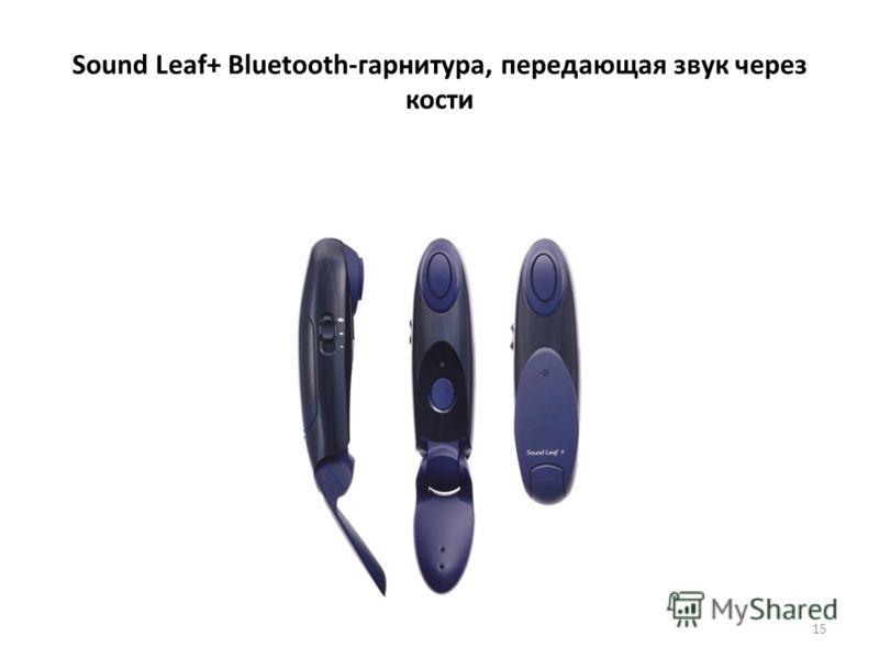 Sound Leaf+ Bluetooth-гарнитура, передающая звук через кости 15