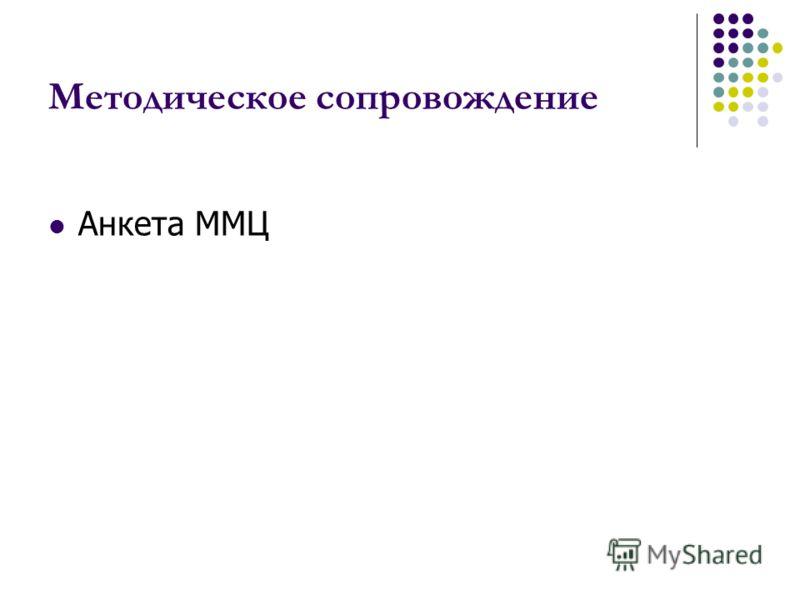 Методическое сопровождение Анкета ММЦ