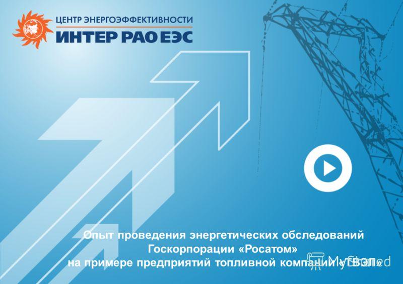 Опыт проведения энергетических обследований Госкорпорации «Росатом» на примере предприятий топливной компании «ТВЭЛ»