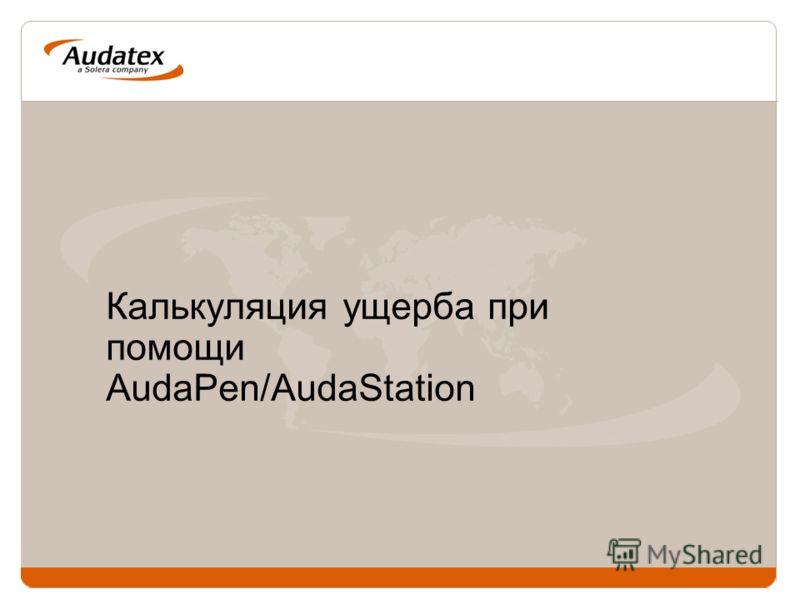 Калькуляция ущерба при помощи AudaPen/AudaStation