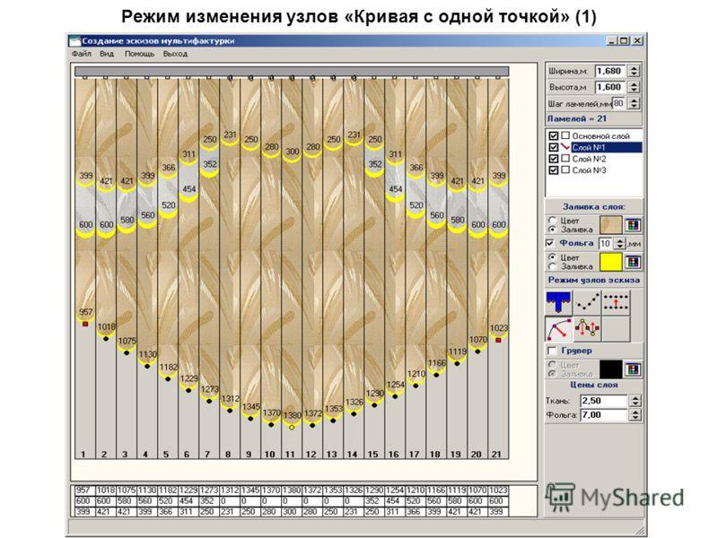 Режим изменения узлов «Кривая с одной точкой» (1)