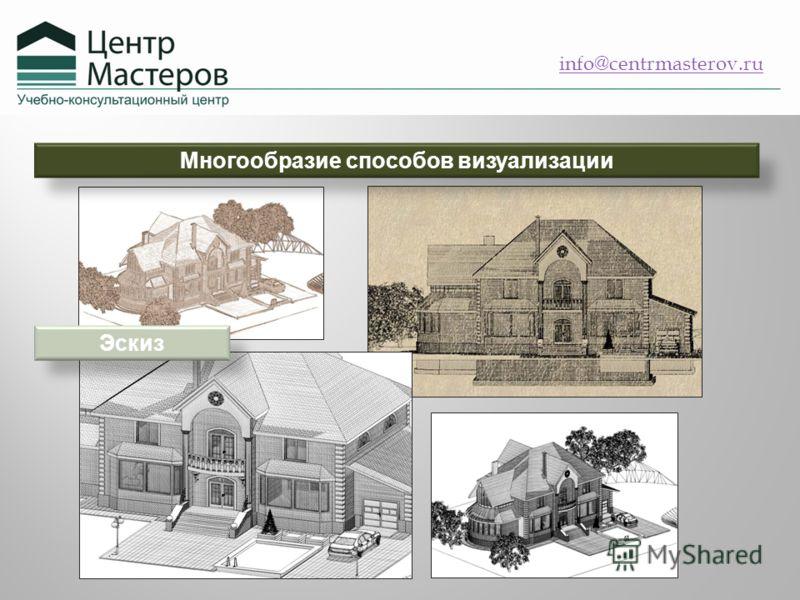 info@centrmasterov.ru Многообразие способов визуализации Эскиз