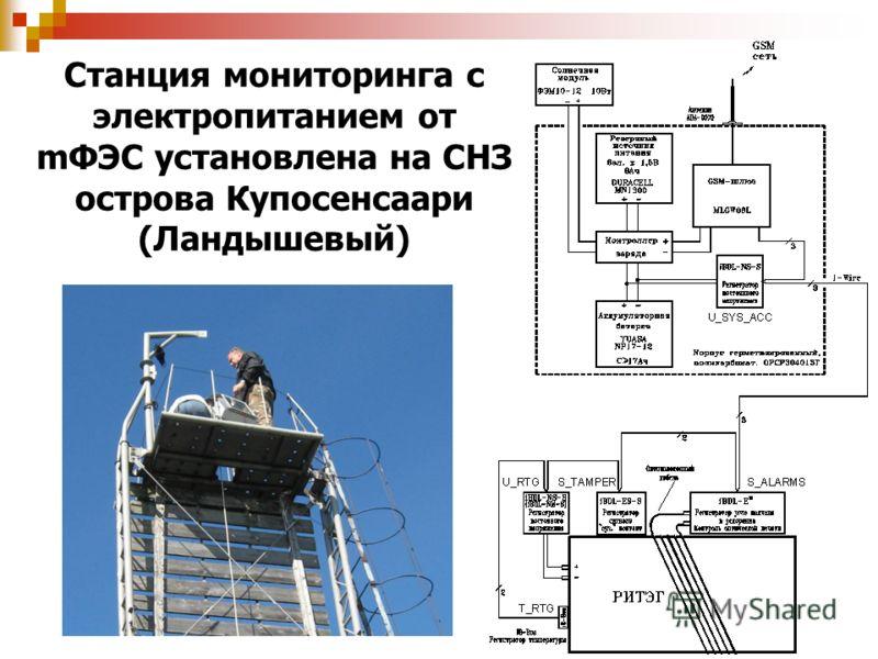Станция мониторинга с электропитанием от mФЭС установлена на СНЗ острова Купосенсаари (Ландышевый)