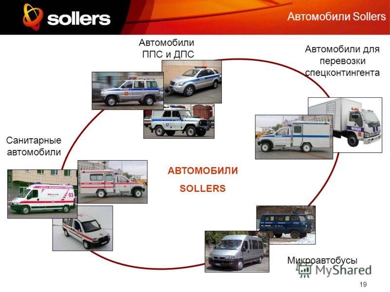 19 Автомобили Sollers Автомобили ППС и ДПС Автомобили для перевозки спецконтингента Санитарные автомобили Микроавтобусы АВТОМОБИЛИ SOLLERS