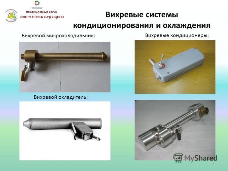 Вихревые системы кондиционирования и охлаждения Вихревой микрохолодильник: Вихревые кондиционеры: Вихревой охладитель: 4