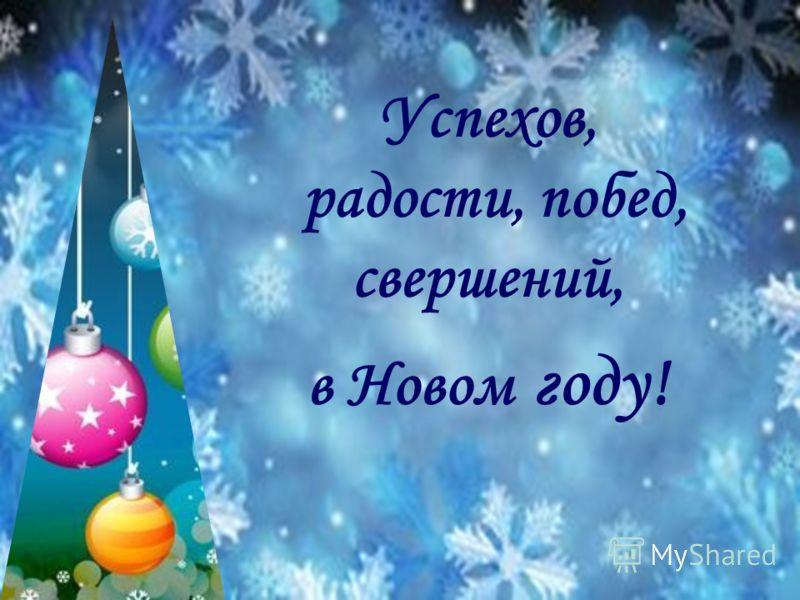 Успехов, радости, побед, свершений, в Новом году!