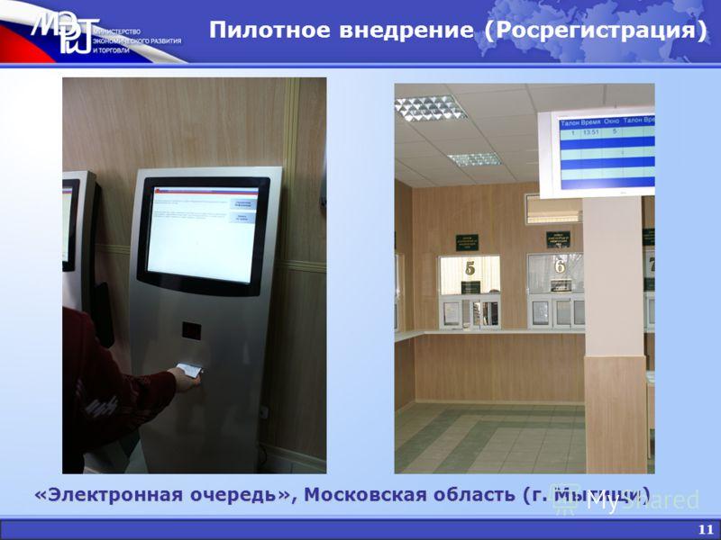11 Пилотное внедрение (Росрегистрация) «Электронная очередь», Московская область (г. Мытищи)