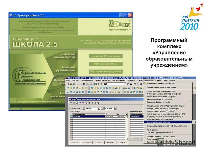 Программный комплекс «Управление образовательным учреждением»