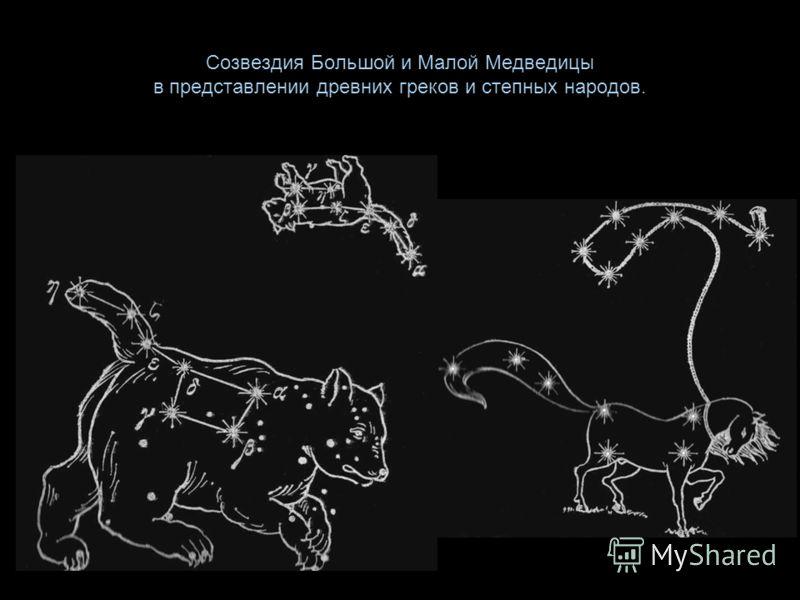 Созвездия Большой и Малой Медведицы в представлении древних греков и степных народов.