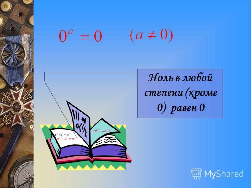 Единица в любой степени равна единице