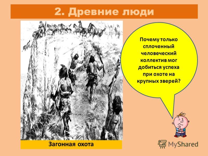 Древние люди Загонная охота