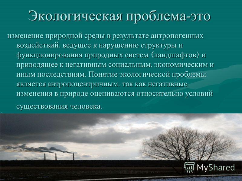 Экологические проблемы города Москва
