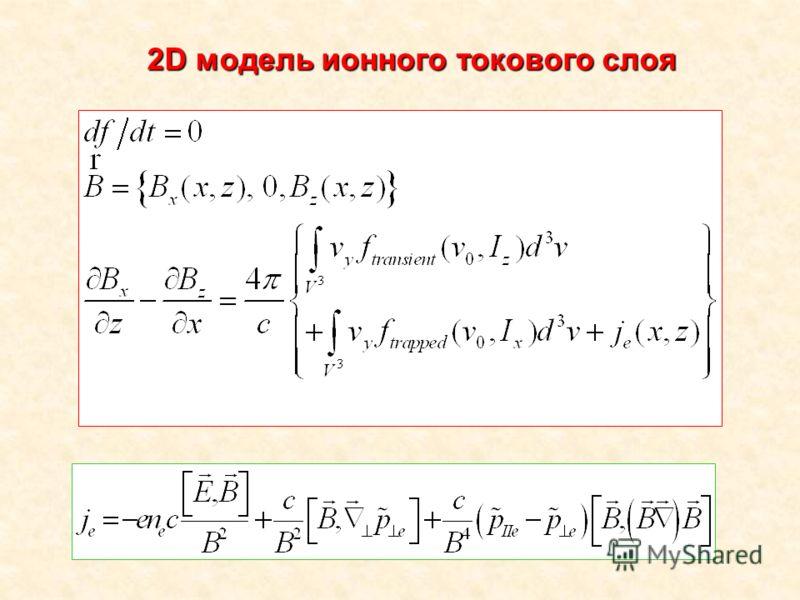2D модель ионного токового слоя