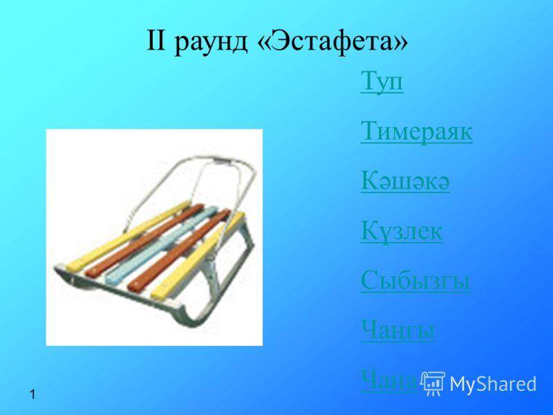 Туп Тимераяк Кәшәкә Күзлек Сыбызгы Чаңгы Чана II раунд «Эстафета» 1
