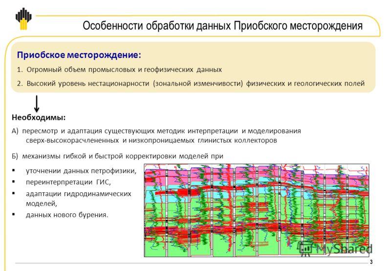 3 Необходимы: А) пересмотр и адаптация существующих методик интерпретации и моделирования сверх-высокорасчлененных и низкопроницаемых глинистых коллекторов Б) механизмы гибкой и быстрой корректировки моделей при уточнении данных петрофизики, переинте