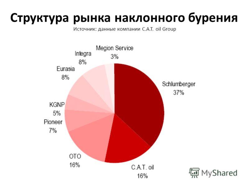 Структура рынка наклонного бурения Источник: данные компании C.A.T. oil Group