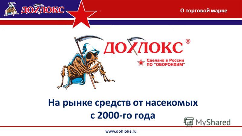 www.dohloks.ru На рынке средств от насекомых с 2000-го года О торговой марке