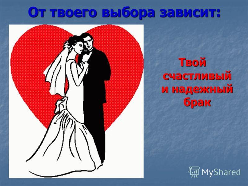 Твой счастливый и надежный брак От твоего выбора зависит: