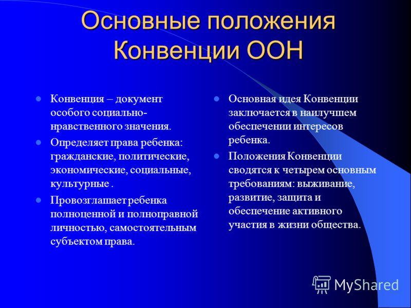 конвенция о правах ребенка в картинках презентация