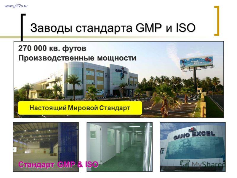 18 Заводы стандарта GMP и ISO www.gitl2u.ru Стандарт GMP & ISO 270 000 кв. футов Производственные мощности Настоящий Мировой Стандарт