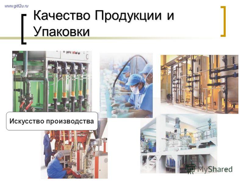 19 Качество Продукции и Упаковки www.gitl2u.ru Искусство производства