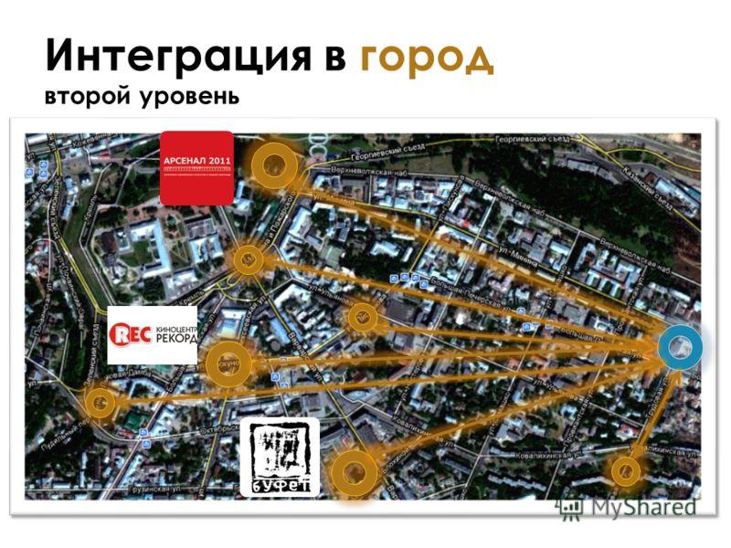 Интеграция в город второй уровень