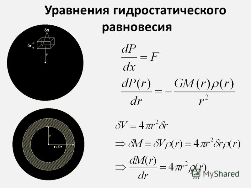 Уравнения гидростатического равновесия