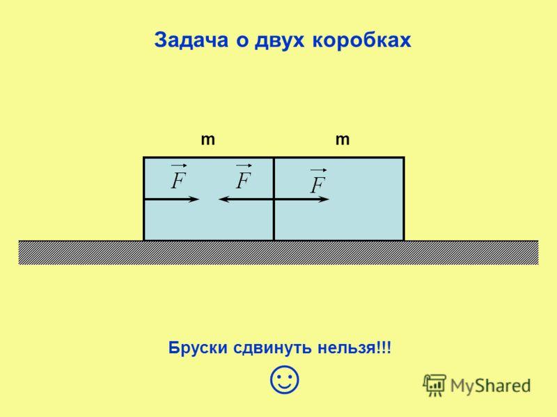 Задача о двух коробках mm Бруски сдвинуть нельзя!!!