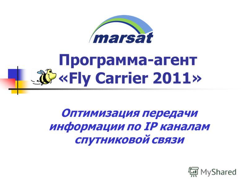 Программа-агент «Fly Carrier 2011» Оптимизация передачи информации по IP каналам спутниковой связи