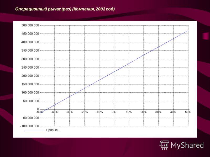 Операционный рычаг (раз) (Компания, 2002 год)