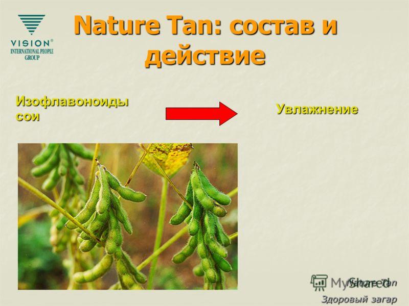 Nature Tan Здоровый загар Nature Tan: состав и действие Изофлавоноидысои Увлажнение