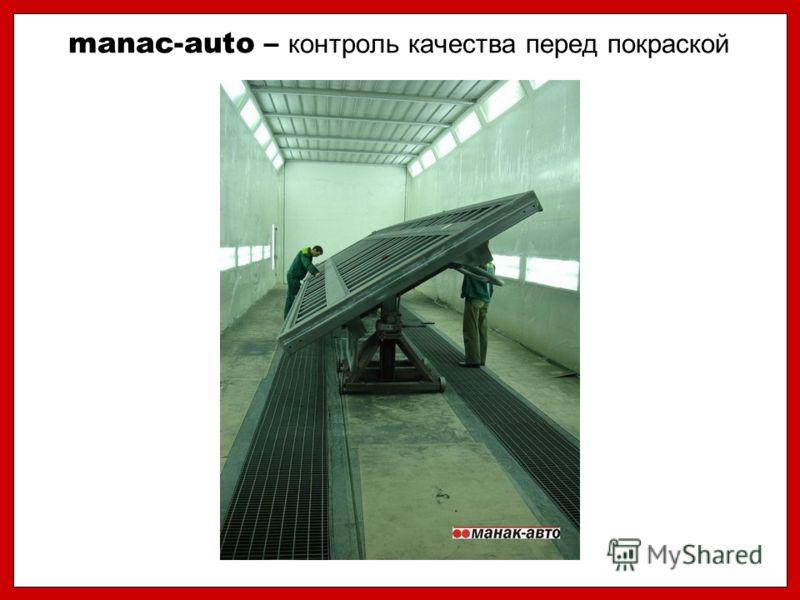 manac-auto – контроль качества перед покраской