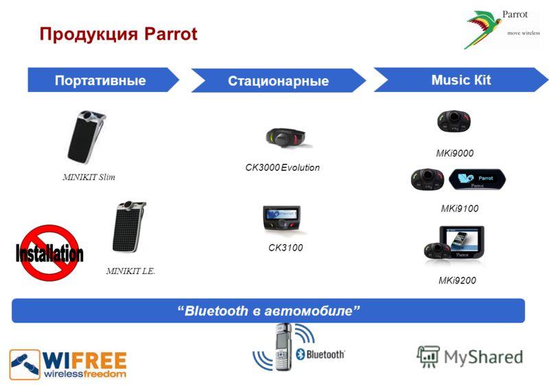 Портативные Стационарные Мusic Кit Bluetooth в автомобиле MKi9000 MKi9100 MKi9200 MINIKIT LE. MINIKIT Slim CK3100 CK3000 Evolution Продукция Parrot
