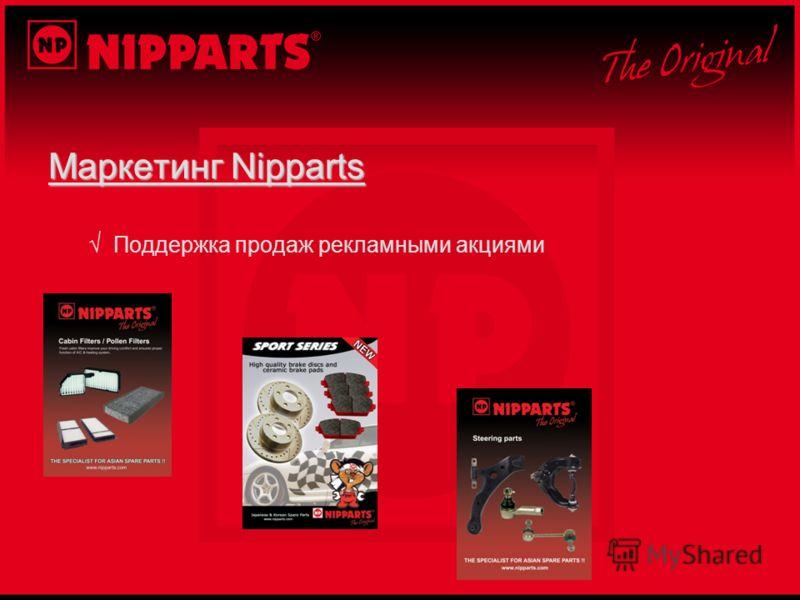 Маркетинг Nipparts Поддержка продаж рекламными акциями