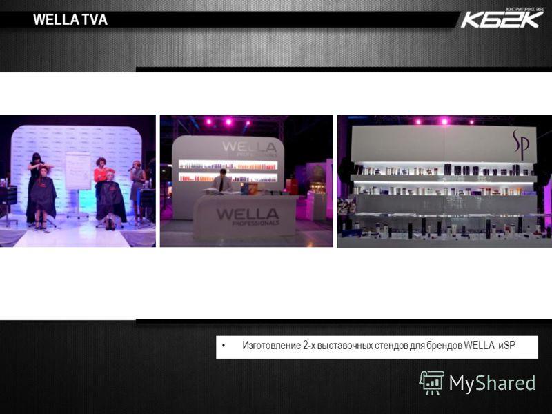 WELLA TVA Изготовление 2-х выставочных стендов для брендов WELLA иSP
