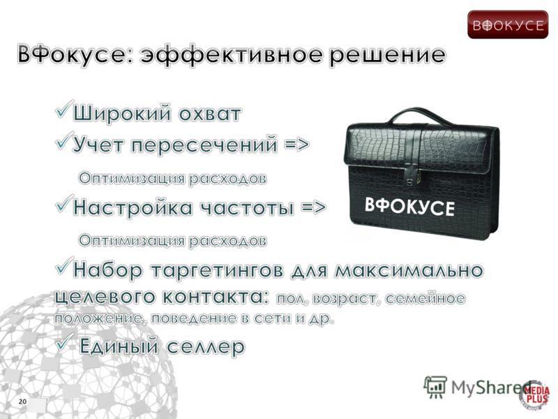 20 ВФОКУСЕ