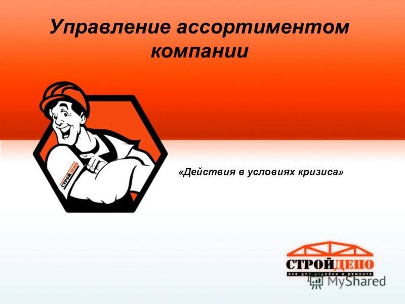 Управление ассортиментом компании «Действия в условиях кризиса»
