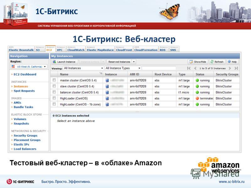 1С-Битрикс: Веб-кластер Тестовый веб-кластер – в «облаке» Amazon